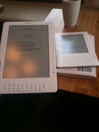 Two Kindles side by side