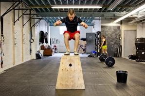 Me doing a box jump of 30 inches.